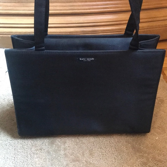 Kate Spade Black Structured Tote Bag with Handles